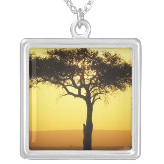 Africa, Kenya, Masai Mara Game Reserve, Rising Silver Plated Necklace