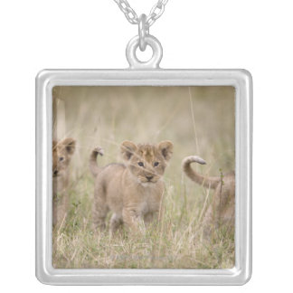'Africa, Kenya, Masai Mara Game Reserve' Silver Plated Necklace
