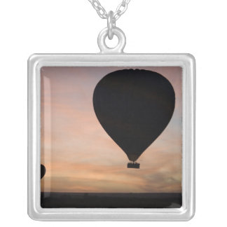 Africa, Kenya, Masai Mara. Two balloons glide Personalized Necklace