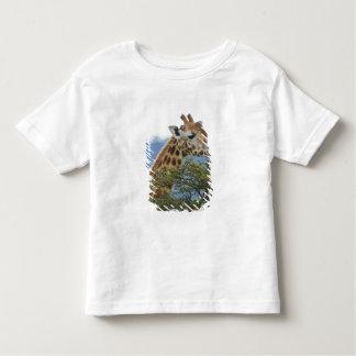 Africa. Kenya. Rothschild's Giraffe at Lake Toddler T-shirt