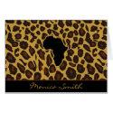 Africa Leopard Card