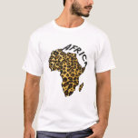 Africa leopard map Leopard animal print T-Shirt
