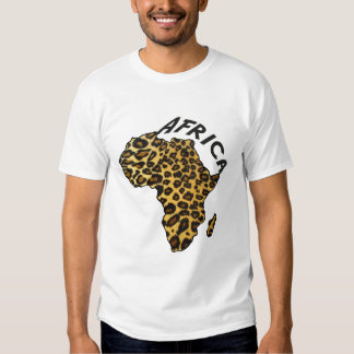 Africa leopard map Leopard animal print Tee Shirt
