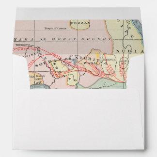 AFRICA: MAP, 1894 ENVELOPE