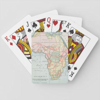 AFRICA: MAP, 1894 PLAYING CARDS