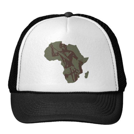 Africa Map African Warrior Artwork Trucker Hat
