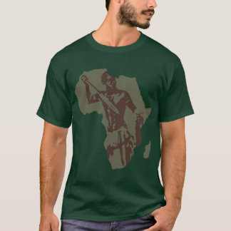 Africa Map African Warrior Ethnic artwork T-Shirt