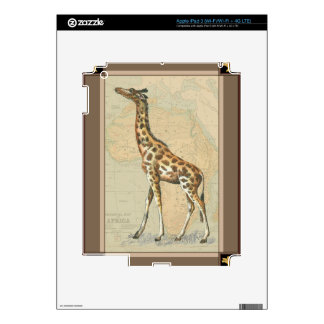 Africa Map and a Giraffe Decals For iPad 3