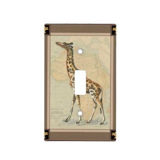 Africa Map and a Giraffe Light Switch Cover
