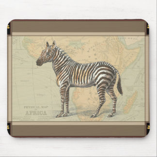Africa Map and a Zebra Mouse Pad