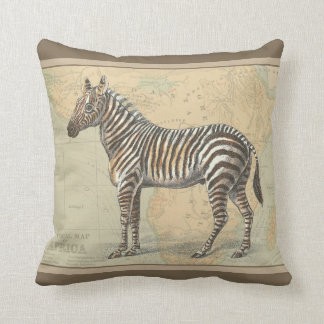 Africa Map and a Zebra Pillow
