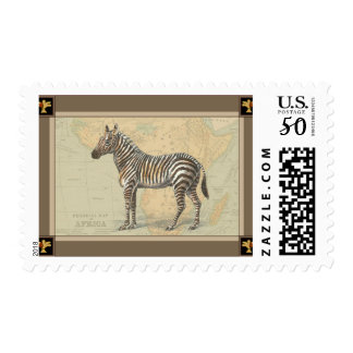Africa Map and a Zebra Postage