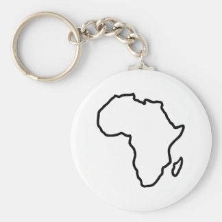 Africa map basic round button keychain