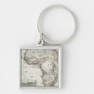 Africa Map by Stieler Keychain
