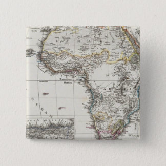 Africa Map by Stieler Pinback Button