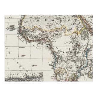 Africa Map by Stieler Postcard