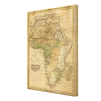 Africa  Map by Worcester Canvas Print