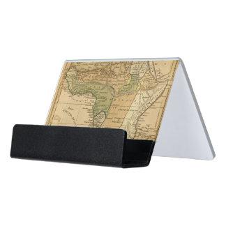 Africa  Map by Worcester Desk Business Card Holder