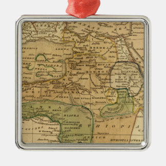 Africa  Map by Worcester Metal Ornament