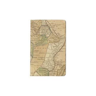 Africa  Map by Worcester Pocket Moleskine Notebook