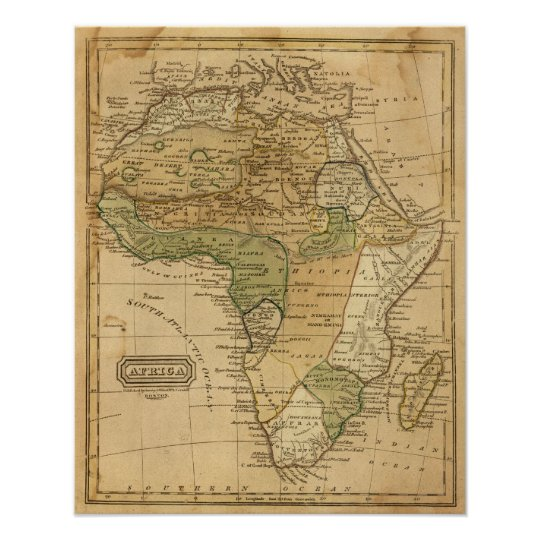 Africa  Map by Worcester Poster
