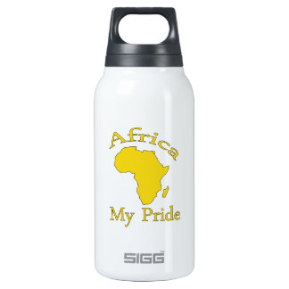 Africa map designs 10 oz insulated SIGG thermos water bottle