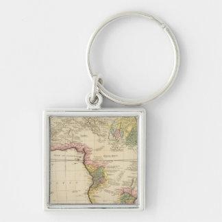 Africa map keychain