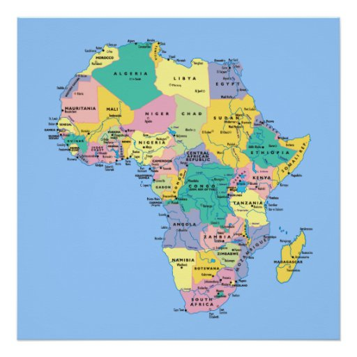 Africa Map Poster Zazzlecom