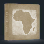 """Africa Map Vacation Photo Album Custom Year Binder<br><div class=""""desc"""">This album is perfect for storing your photos and keepsakes from your African vacation. Look for other vacation albums in the rest of this shop.</div>"""