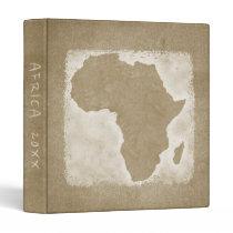Africa Map Vacation Photo Album Custom Year Binder