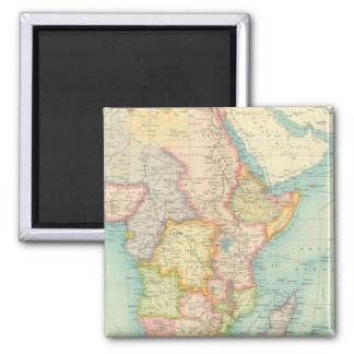 Africa Map with shipping routes 2 Inch Square Magnet