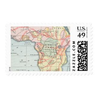 ÁFRICA: MAPA, 1894 SELLOS
