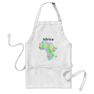 África - mapa político delantal