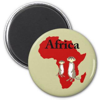 Africa meerkats 2 inch round magnet