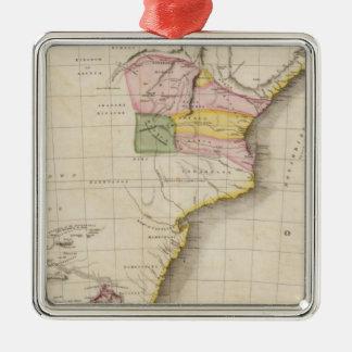 África meridional adorno navideño cuadrado de metal