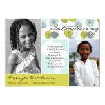 Africa Message: Retro Puffs 5x7 Paper Invitation Card