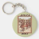 Africa MMX African womens tribal soccer dance Key Chain