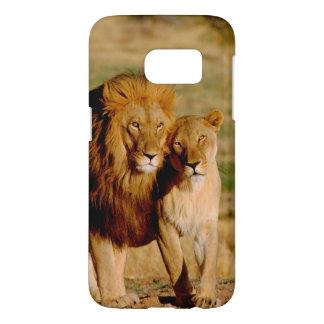 África, Namibia, Okonjima. León y leona Funda Samsung Galaxy S7