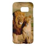 África, Namibia, Okonjima. León y leona Fundas Samsung Galaxy S7