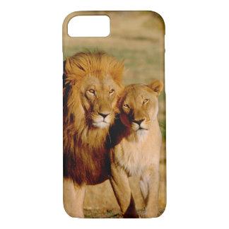Africa, Namibia, Okonjima. Lion & lioness iPhone 7 Case