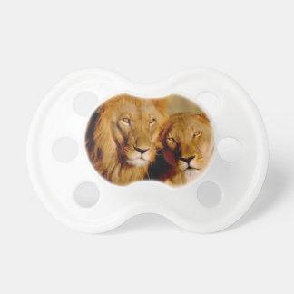 Africa, Namibia, Okonjima. Lion & lioness Pacifier