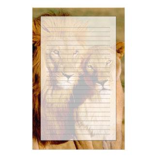 Africa, Namibia, Okonjima. Lion & lioness Stationery