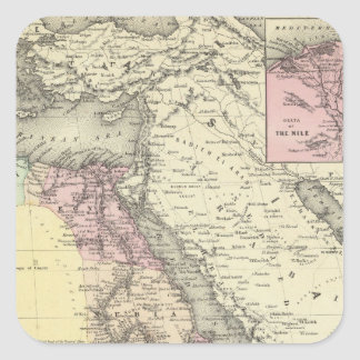 Africa North Eastern Sheet Square Sticker