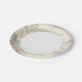 África occidental 2 plato de papel de 7 pulgadas
