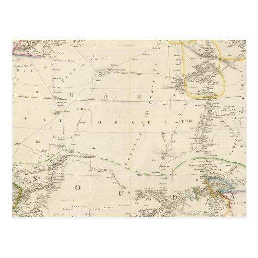 África occidental del norte postales