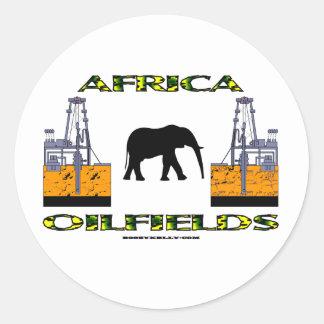 Africa Oil Fields, Oil Field Sticker