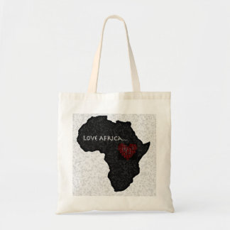 Africa_outline_bw copy budget tote bag