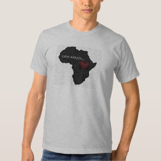 Africa_outline_bw copy t shirts