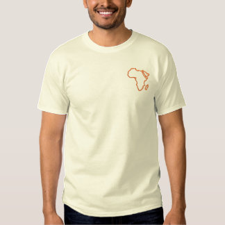 Africa Outline Embroidered T-Shirt