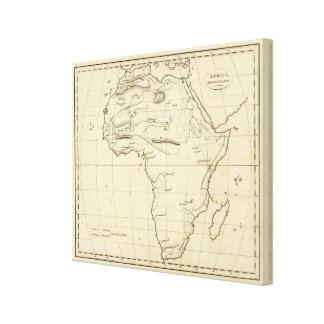 Africa outline gallery wrap canvas